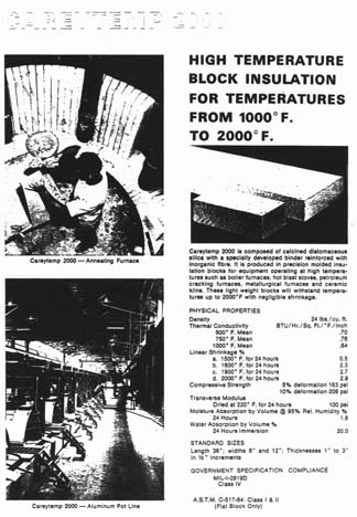 asbestos insulation cutsheet